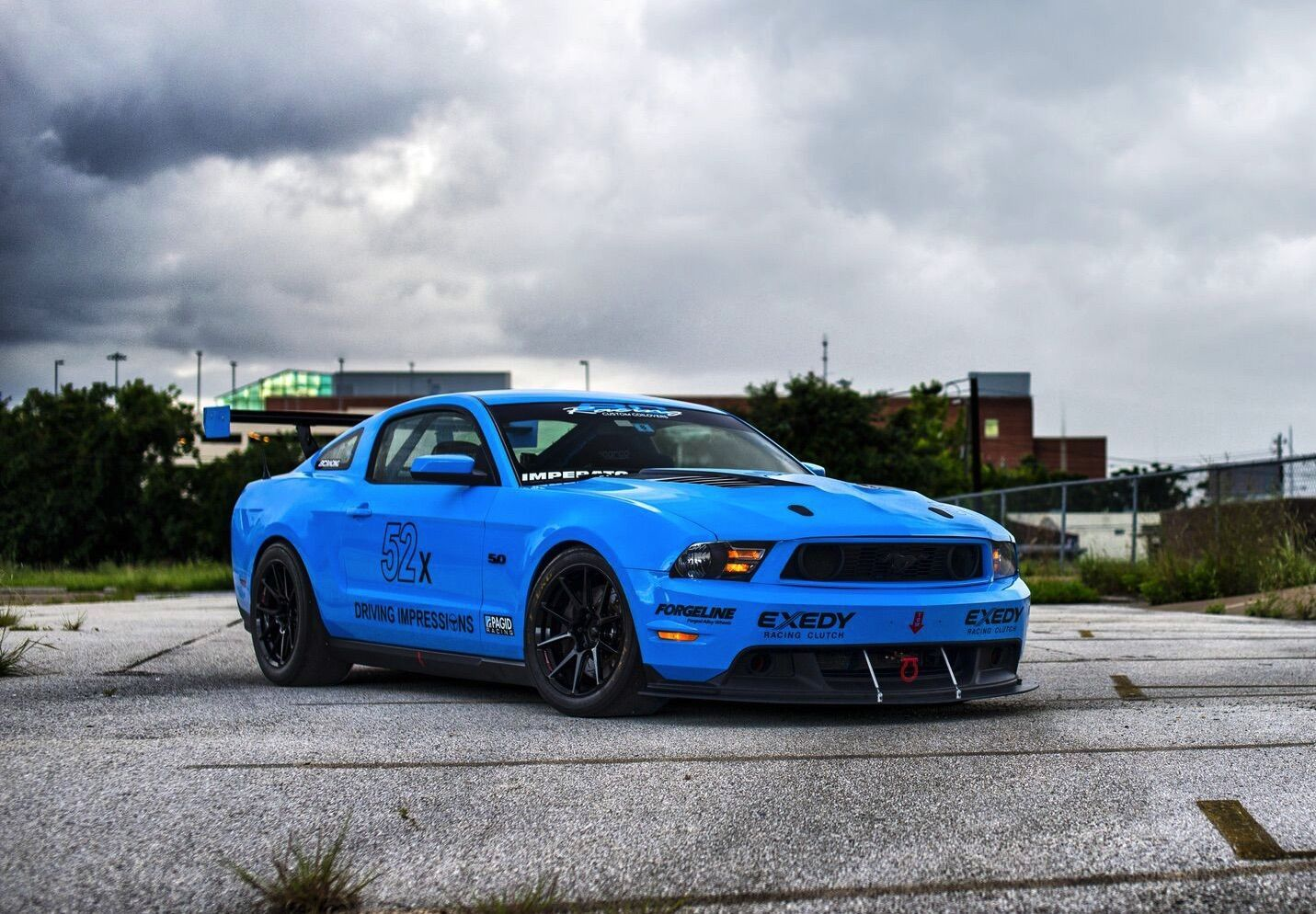 Anthony imperatos grabber blue s197 mustang gt on forgeline one