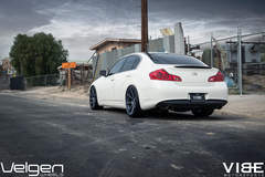 "2009 Infiniti G37 on 20"" Velgen Wheels - Rear Shot"