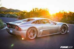 The Falcon F7 All-American Supercar on Forgeline SC3C Concave Wheels