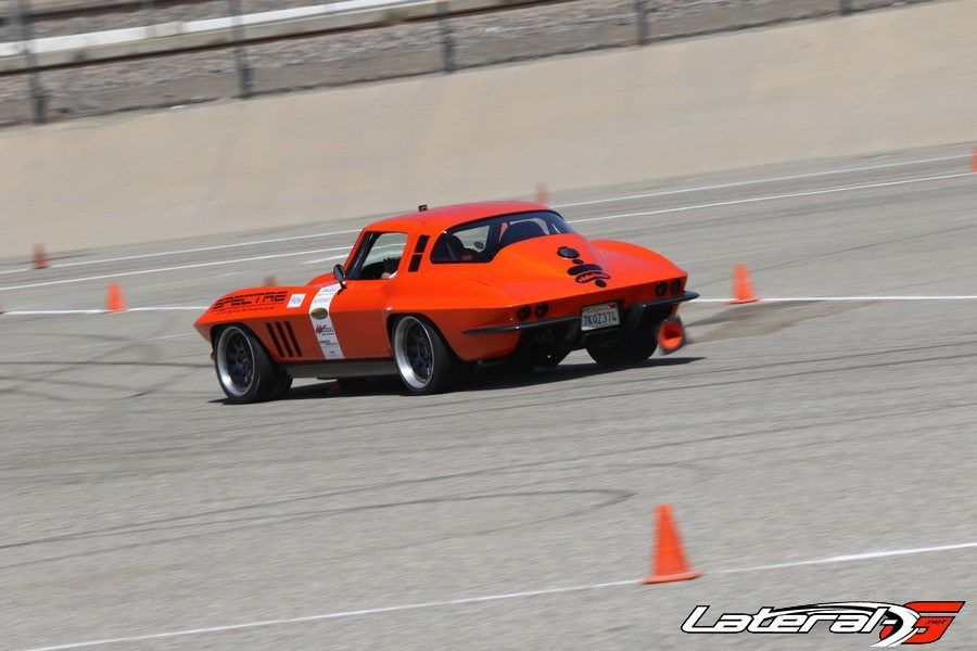 1965 Chevrolet Corvette Stingray | Greg Thurmond Wins Classic Muscle Class at NMCA West Autocross in his '65 SCAR Corvette on Forgeline DE3C Concave Wheels