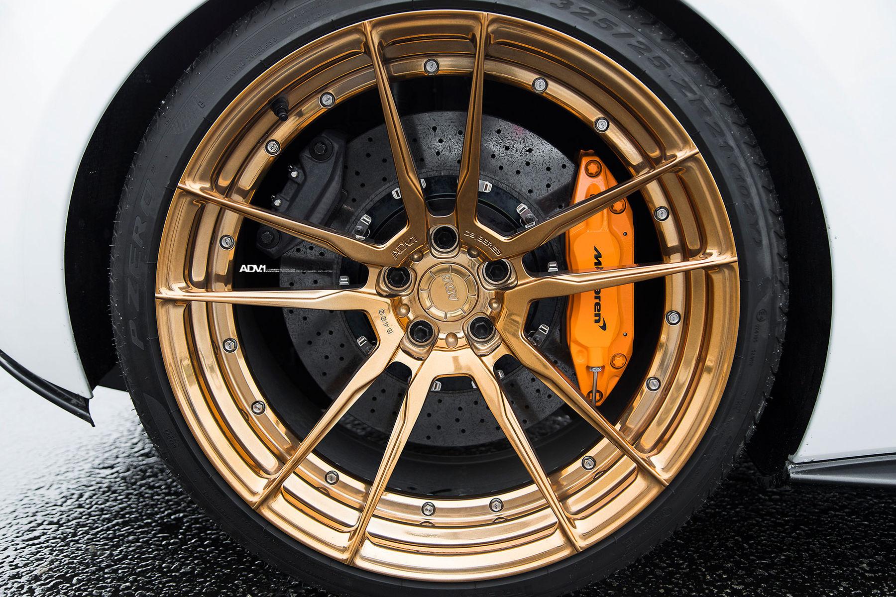 McLaren 570S | Silica White McLaren 570S Coupe - ADV5.2 M.V2 CS Series Wheels
