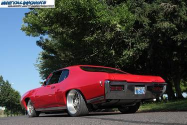 1968 Pontiac GTO | MetalWorks 1968 Pro-Touring GTO build - Rear Angle Shot