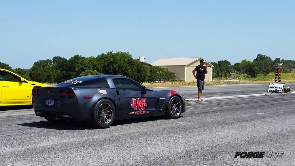2009 Chevrolet Corvette | Kelly Bise's 1000rwp Corvette Z06 on Forgeline One Piece Forged Monoblock GA1R Wheels
