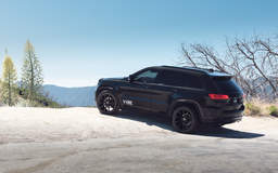 "Jeep Grand Cherokee on 22"" Vorsteiner V-FF 109 Gloss Black Wheels - Rear End"