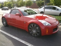 Nissan 350z on Ruff Racing R955's