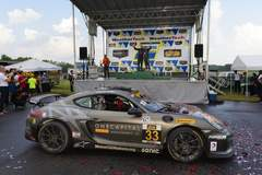 CJ Wilson Wins IMSA CTSC GS at VIR in Porsche Cayman GT4 Clubsport on Forgeline One Piece Forged Monoblock GS1R Wheels