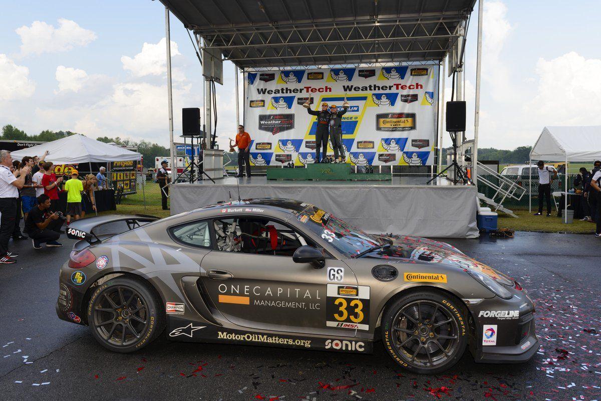 Porsche Cayman | CJ Wilson Wins IMSA CTSC GS at VIR in Porsche Cayman GT4 Clubsport on Forgeline One Piece Forged Monoblock GS1R Wheels