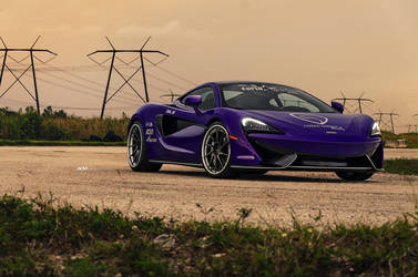 Purple McLaren 570S - ADV.1 Directional ADV10R Track Spec CS Series Wheels
