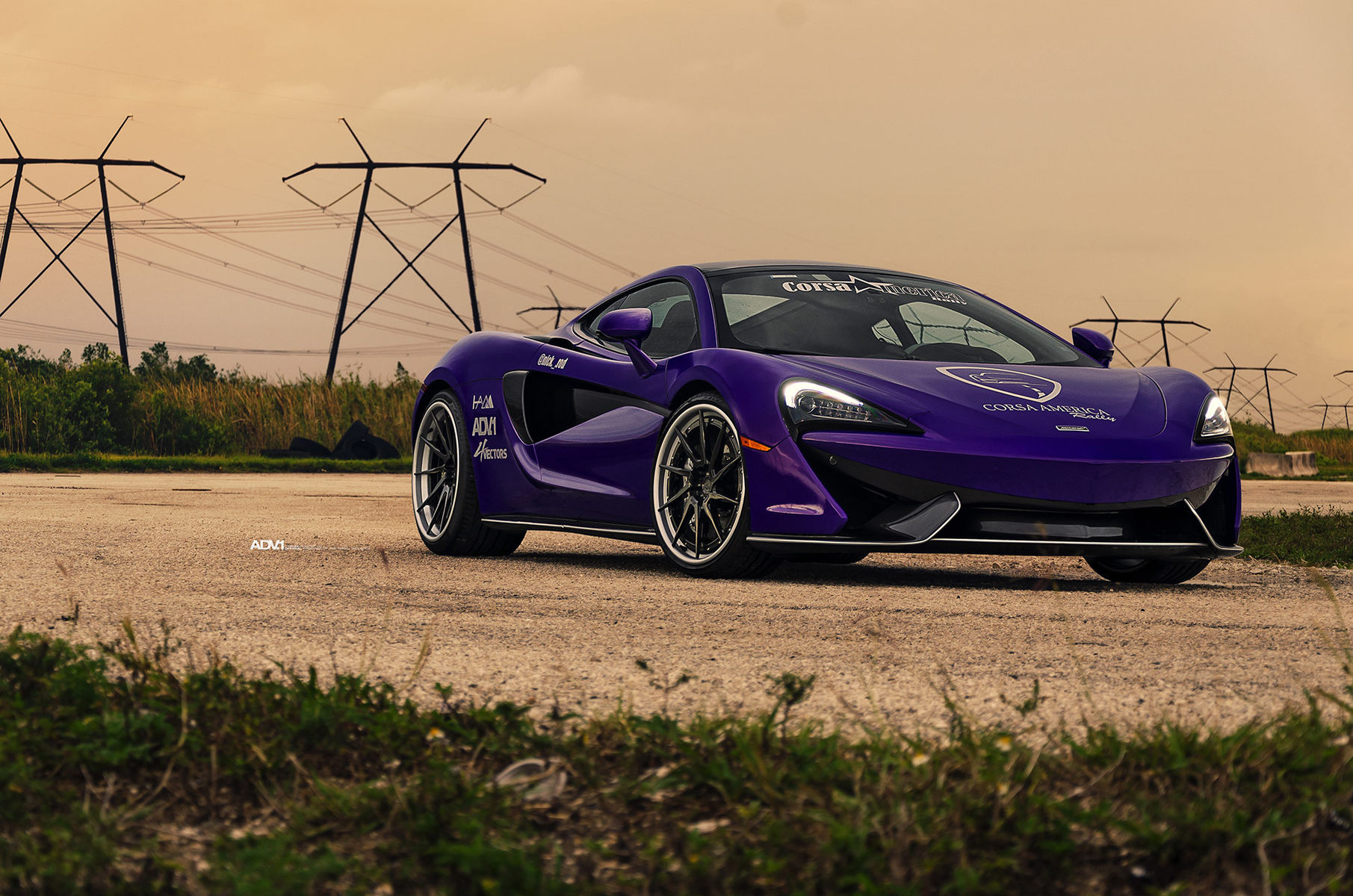 McLaren 570S | Purple McLaren 570S - ADV.1 Directional ADV10R Track Spec CS Series Wheels