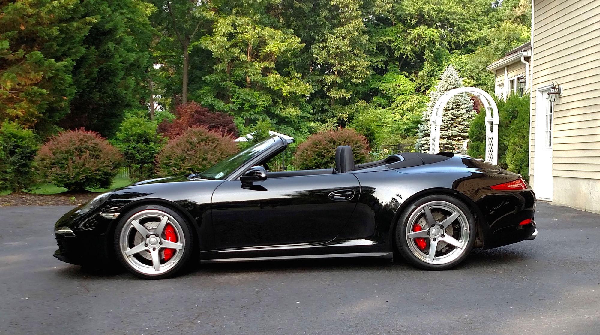 2015 Porsche 911 |  991 Porsche Carrera 911 4S Cabriolet on Forgeline CF3C-SL Wheels - Side Profile
