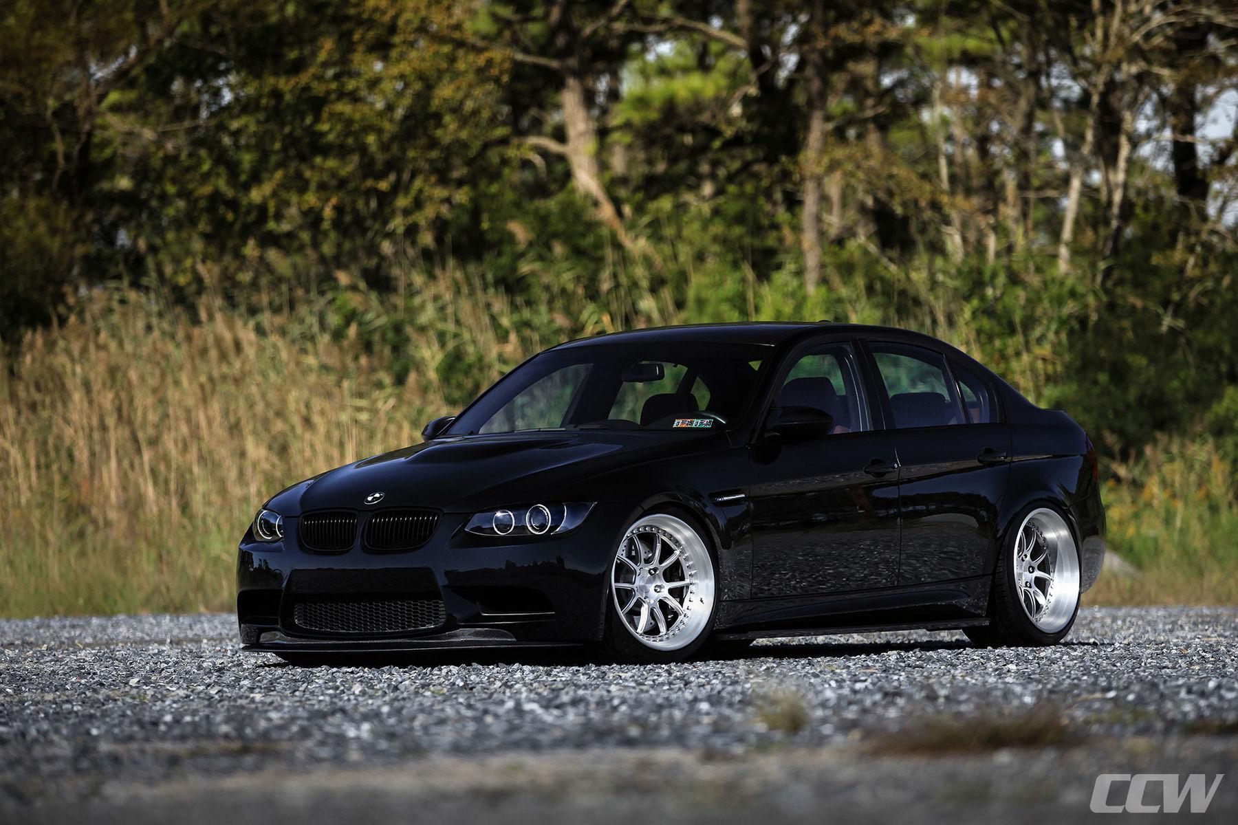 2010 BMW M3 | Black BMW E90 M3 Sedan - CCW HS540 Hybrid 2 Piece Forged Wheels