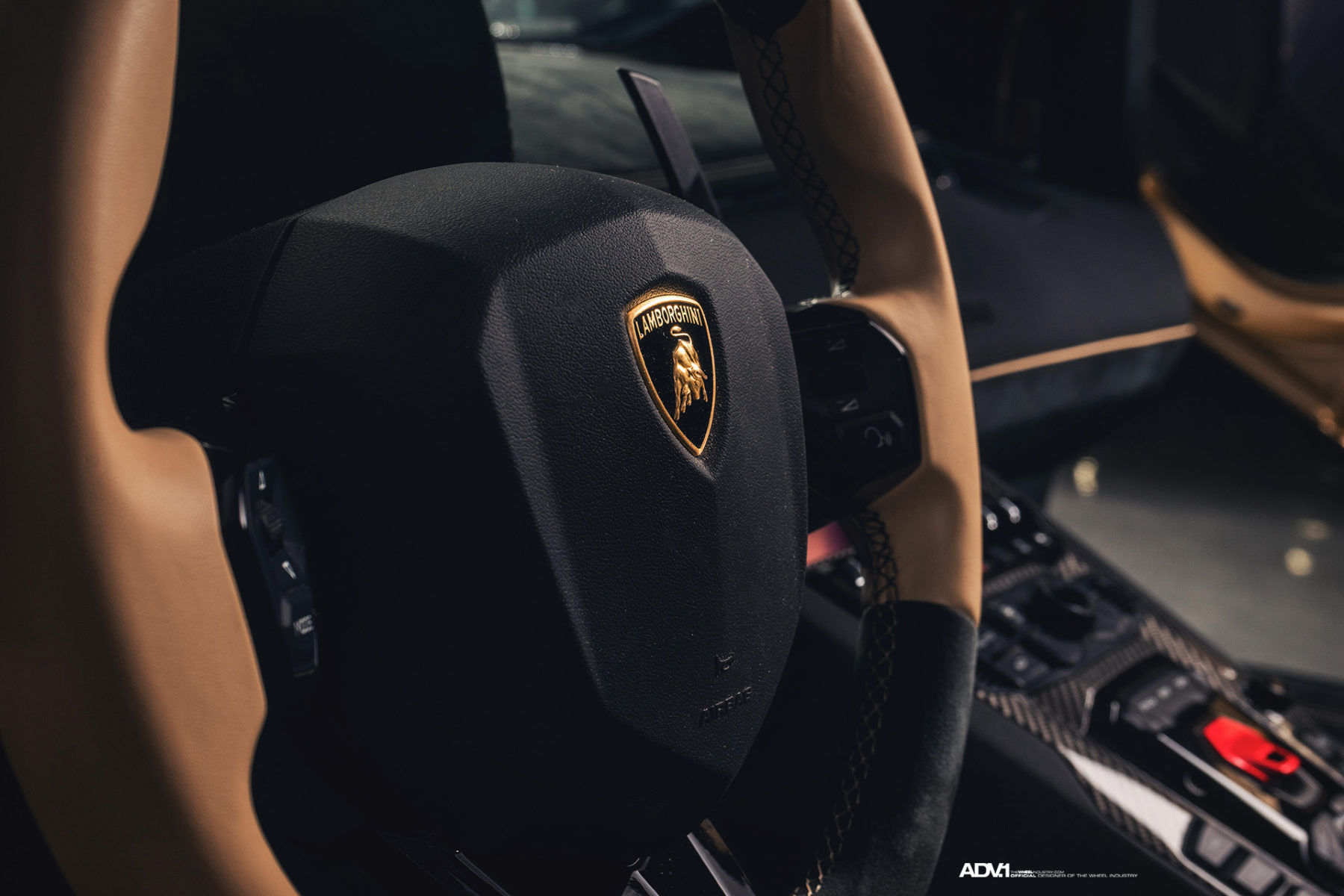 Lamborghini Aventador | Gold Lamborghini Aventador SV Roadster LP750-4 - ADV1 ADV5.3 Track Spec CS Series Centerlock